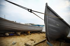 Boats by the sea Royalty Free Stock Photo