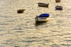 Boats. On the sea at sunset Royalty Free Stock Photography