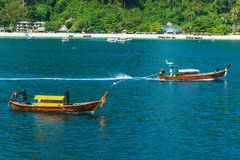 Boats at sea  in Thailand Stock Images