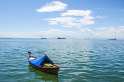 Boats in sea , Thessaloniki, Greece. And blue sky background Royalty Free Stock Photography