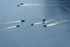 Boats in the sea Stock Photography