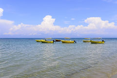 Boats on the sea Stock Images