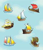 Boats - seamless pattern Stock Images