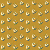 Boats seamless pattern Royalty Free Stock Photography