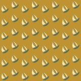 Boats seamless pattern royalty free stock photography