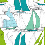 Boats seamless pattern Stock Image