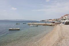 Boats at seaside of Bol Royalty Free Stock Photography