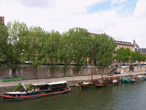 Boats on the Seine. River, Paris, France royalty free stock photography