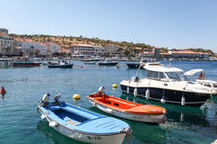 Boats in Senj Stock Images