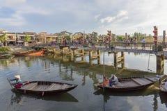 Boats serve tourists, Hoi An, Vietnam Royalty Free Stock Image