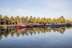 Boats serve tourists, Hoi An, Vietnam Stock Photography