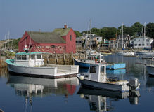 Boats and shack. Fishing boats and shed in Rockport Royalty Free Stock Photos