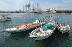 Boats at Sharjah Creek Royalty Free Stock Images