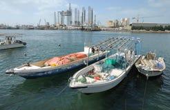 Boats at Sharjah Creek Royalty Free Stock Images