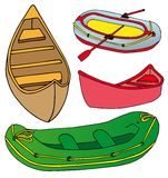 Boats and ships collection Royalty Free Stock Image