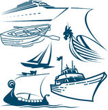 Boats and Ships Royalty Free Stock Images
