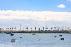 Boats and ships. Harbor town of Cascais. Portugal Stock Photography