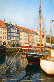 The boats and ships in Nyhavn, Copenhagen. Royalty Free Stock Images