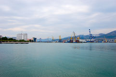 Boats and ships in port. On the Black Sea Stock Image