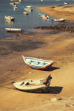 Boats in the shore, Ferragudo town, Algarve, Portugal Royalty Free Stock Photography