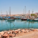 Boats on the shore of the Red Sea Royalty Free Stock Image