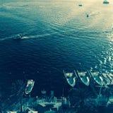 Boats on shoreline, Destin, Florida Stock Image