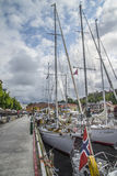 Boats on show at the harbor of halden, image 2 Royalty Free Stock Photo