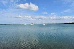 Boats and Sky Stock Photography