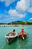 Boats.sky.sea Stockfotografie