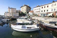 Boats in small fishing port Volosko Royalty Free Stock Image