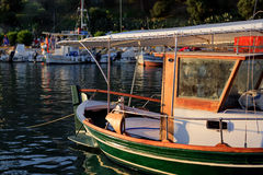 Boats in small harbor Royalty Free Stock Photography