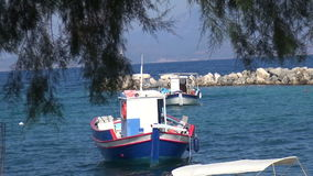 Boats in a Small Jetty 1. View of some picturesque boats in a small jetty stock footage