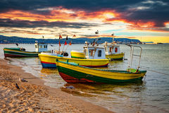 Boats in Sopot, Poland Royalty Free Stock Photos