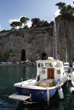Boats from Sorrento harbor. Sunny summer day. Boats from Sorrento harbor, Italy stock images