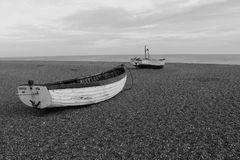 Boats on Southwold beach Stock Images