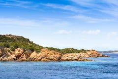 Boats at Spargi Island, Archipelago of Maddalena, Sardinia Royalty Free Stock Photography