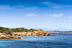 Boats at Spargi Island, Archipelago of Maddalena, Sardinia Stock Photo