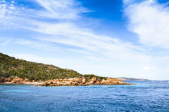 Boats at Spargi Island, Archipelago of Maddalena, Sardinia Stock Images