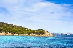 Boats at Spargi Island, Archipelago of Maddalena, Sardinia Royalty Free Stock Photos