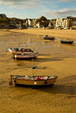 Boats on St Ives beach Cornwall Royalty Free Stock Images