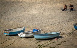 Boats on St Ives beach Stock Photo