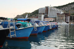 Boats stand at a berth Stock Photography