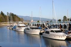 Boats in Stanley Park Royalty Free Stock Photography