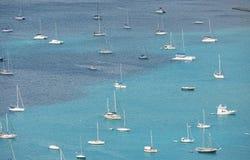 Boats staying at blue bay Royalty Free Stock Photo