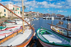 Boats in Stintino Stock Image