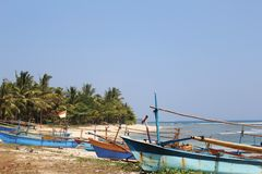 Boats in Sumatra. stock image