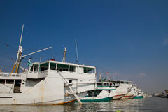 Boats of Sunda Kelapa harbour Jakarta, Indonesia Stock Photos