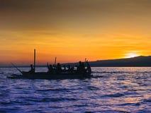 Boats on sunrise Royalty Free Stock Photography
