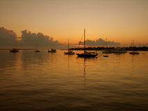 Boats at Sunrise Stock Photography