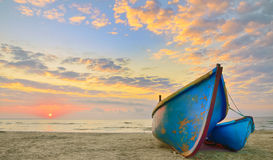 Boats at sunrise time Stock Photography